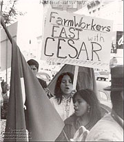 Farmer workers join Cesar Chavez's movement